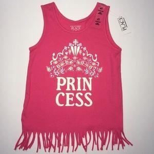 NWT C.Place 4T princess pink tank top tassels